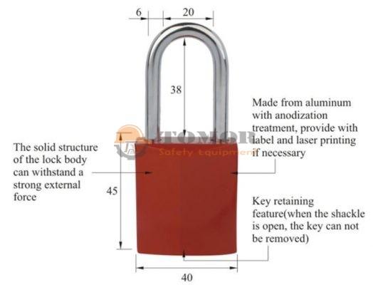 Aluminum Padlock